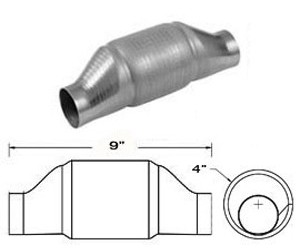 """Magnaflow Catalytic Converter Metal Substrate 2 1/2"""" Inlet / Outlet PN# CAT59906M"""