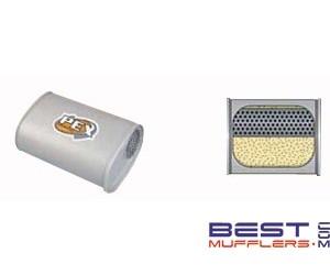 "Berklee Universal Mufflers 10"" x 4"" x 10"" Long 2 1/4"" Inlet / Outlet Free Flow Design Australian Made PN# BS0910"