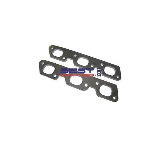 """Header Flange Plates [Pair] Suit Holden VT-VS-VY 3.8ltr Efi Ecotec Mild Steel 10mm Thick 1 1/2"""" [38mm] Port Size PN# FP083"""