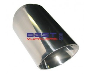 Stainless Steel / Chrome Exhaust Extension / Tip 063mm Inlet 076mm Angle Cut Outlet 130mm Long [ZS606-63]  sc 1 st  Best Mufflers & Stainless Steel / Chrome Exhaust Extension / Tip 063mm Inlet 076mm ...