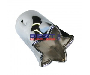Chrome Exhaust Tip Star Shaped