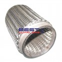 """Heavy Duty Flexible Exhaust Bellow 4"""" Inlet / Outlet 10"""" Long [250mm] Double Braid [Braided Inner] PN# CF102-250B"""