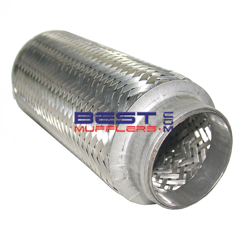 """Heavy Duty Flexible Exhaust Bellow 2"""" Inlet / Outlet 8"""" Long [202mm] Double Braid [Braided Inner] PN# CF051-202B"""