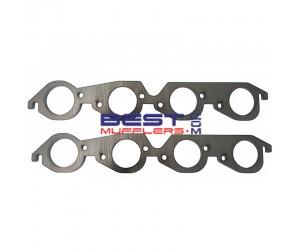 "Header Flange Plates [Pair] Chev Big Block 427-454  Mild Steel 10mm Thick 2 1/4""  Port Size PN# FP075-057"